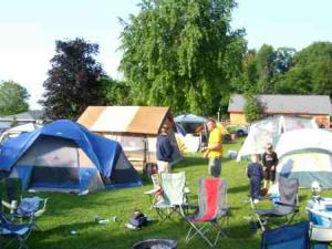 Tent Camping at McLear's Cottage Colony and Campground, Black Lake, New York